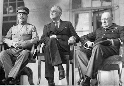 los tres grandes en Teherán