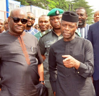Osinbajo and Governor Wike