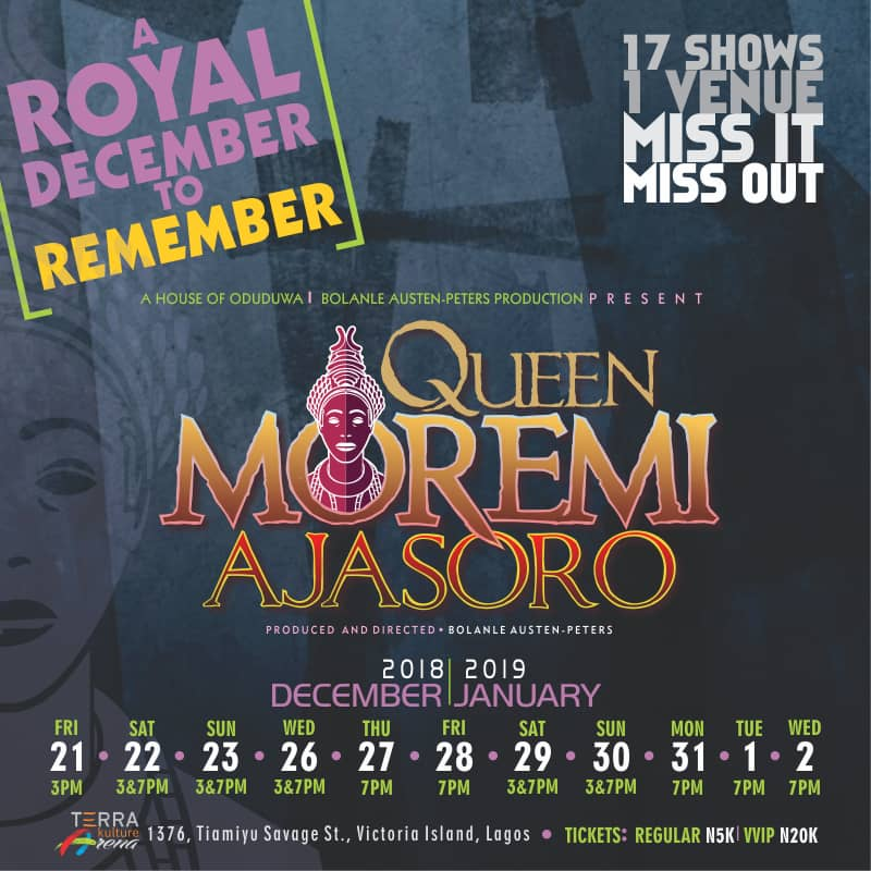 QUEEN MOREMI AJASORO 'THE MUSICAL'