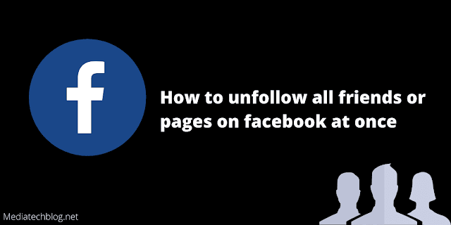 how to unfollow all friends on facebook