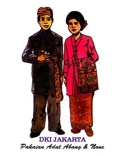 Label Stiker Pakaian Adat di Indonesia