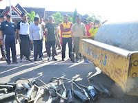Bupati dan Wakil Bupati Pinrang Senam Bersama Jajaran Polres Pinrang