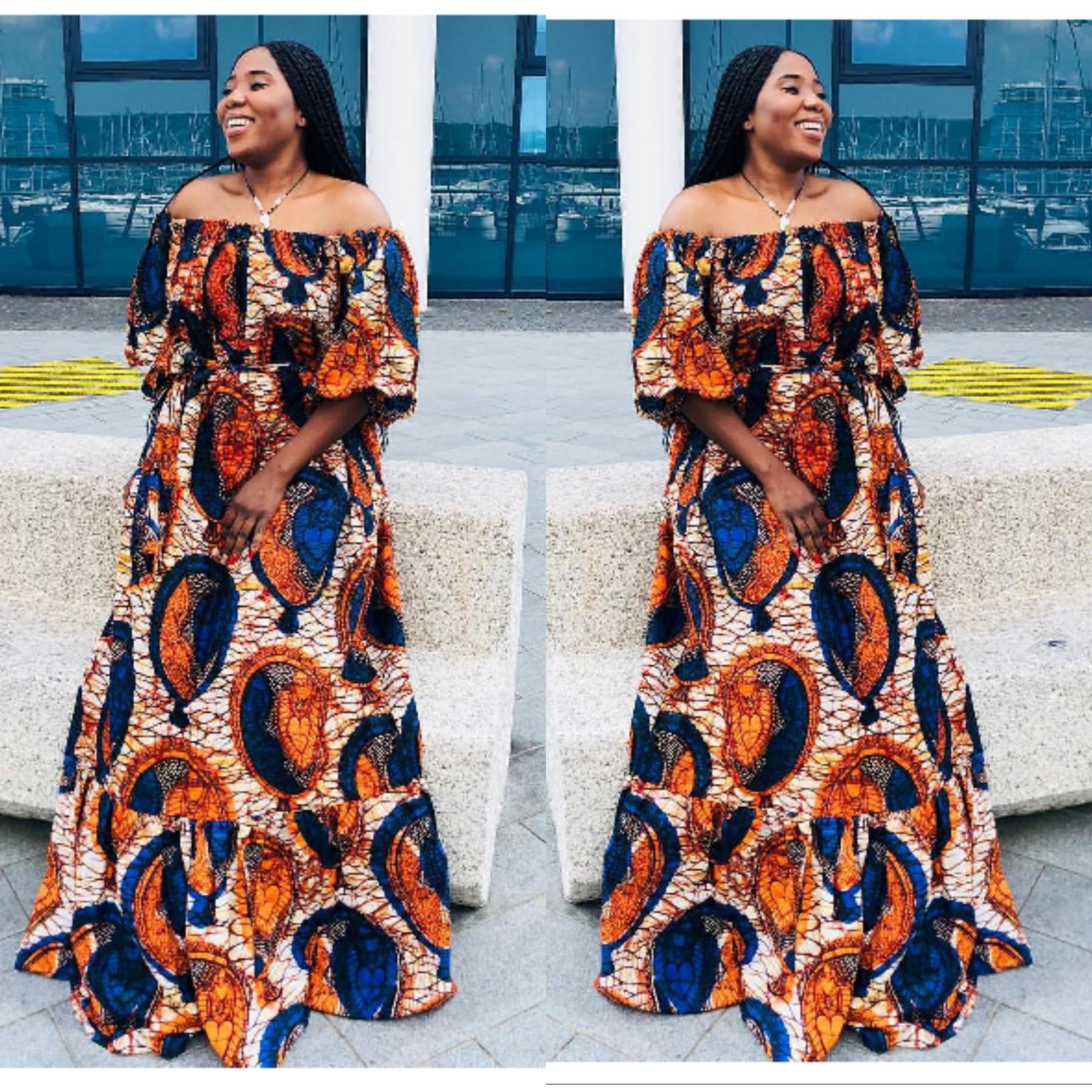 NIGERIAN KITENGE LONG DRESSES~DERA