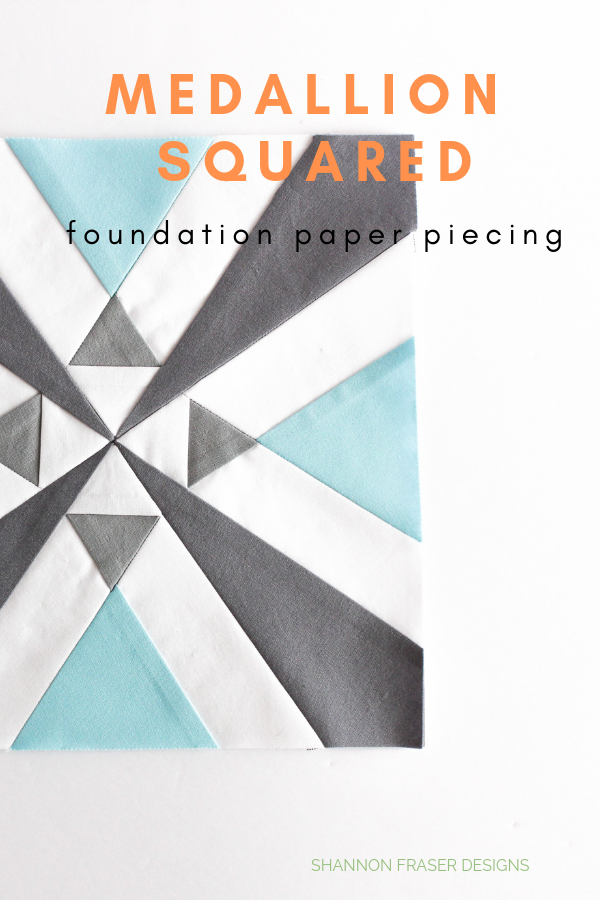 Medallion Squared Quilt | Q3 Finish-a-Long | Shannon Fraser Designs #foundationpaperpiecing #fpp