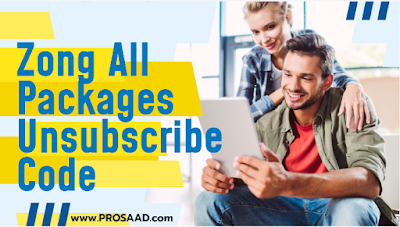 Zong All Packages Unsubscribe Code