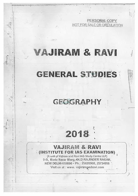 Vajiram and Ravi Geography Printed Notes Download PDF