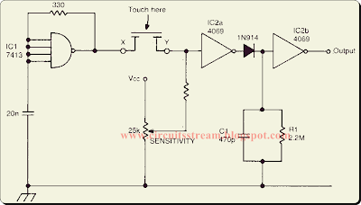 Simple Cmos Connect Switch Circuit Diagram