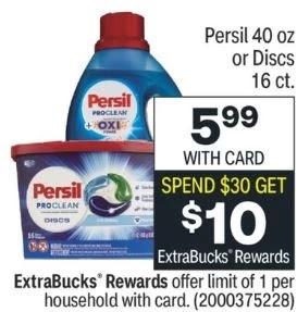 Persil Detergent CVS Coupon Deal 9/5-9/11