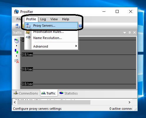 Cara Menggunakan setting proxifier