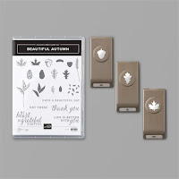 Stampin'Up's Beautiful Autumn Bundle: contains small leaf and acorn punches from the Autumn Punch pack and coordinating Beautiful Autumn Stamp set