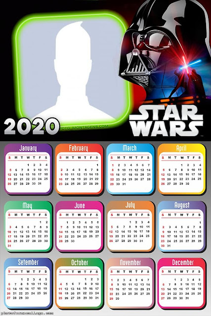 Star Wars: Free Printable 2020 Calendar