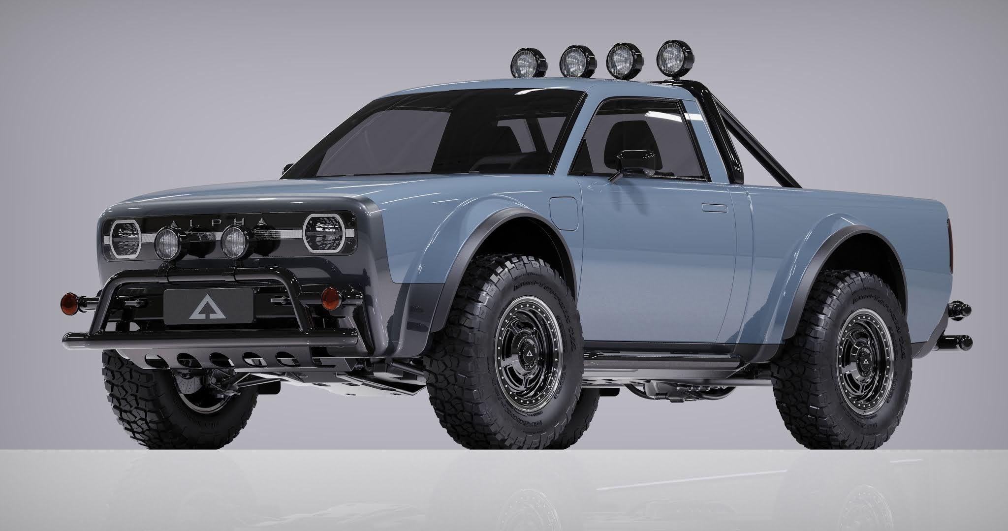Alpha Motor Corporation unveils electric pickup truck