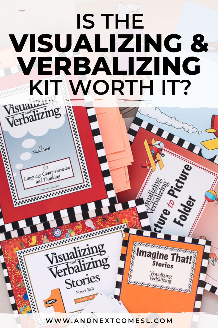 Visualizing and Verbalizing kit from Lindamood Bell - is it worth it? A full review of the language comprehension and thinking kit and whether it's a good fit for kids with autism or hyperlexia