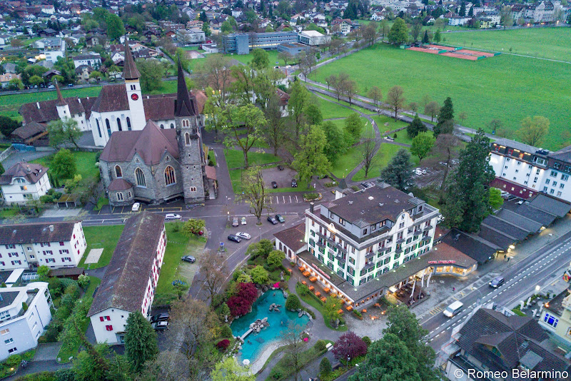 Hotel Interlaken Drone Aerial View Four Days in Interlaken and the Swiss Alps