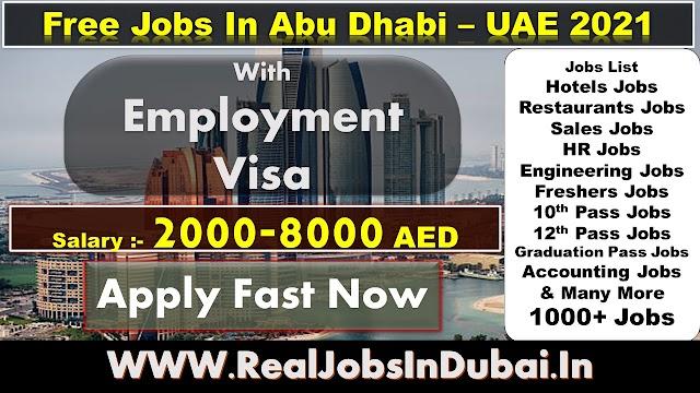 Latest New Jobs In Abu Dhabi 2021