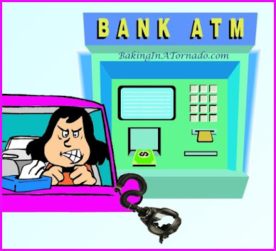 Holidays at the ATM, a look at a microcosm of society while waiting at the ATM on a holiday | www.BakingInATornado.com | #humor #funny #laugh