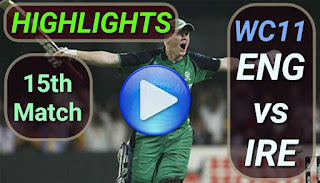 ENG vs IRE 15th Match