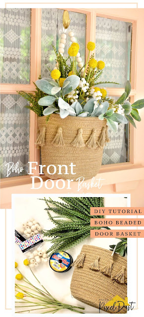 DIY Boho Front Door Floral Basket (Tutorial)