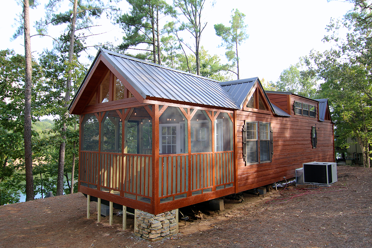 Tiny house town the chattahoochee from rustic river park for Tiny house with porch