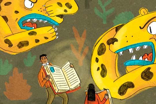 Ilustración, Cartel deserción escolar de Alexis Monter