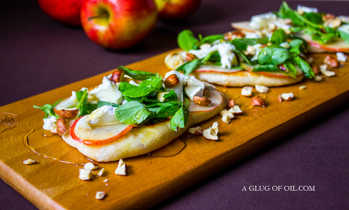 Flatbreads with Jazz Apple and Goat Cheese