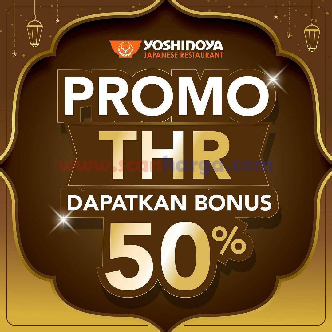 Promo YOSHINOYA THR - BONUS Voucher Rp 50.000 + Gratis Ogura