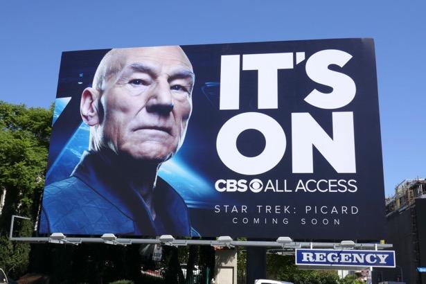 Its On CBS All Access Star Trek Picard billboard