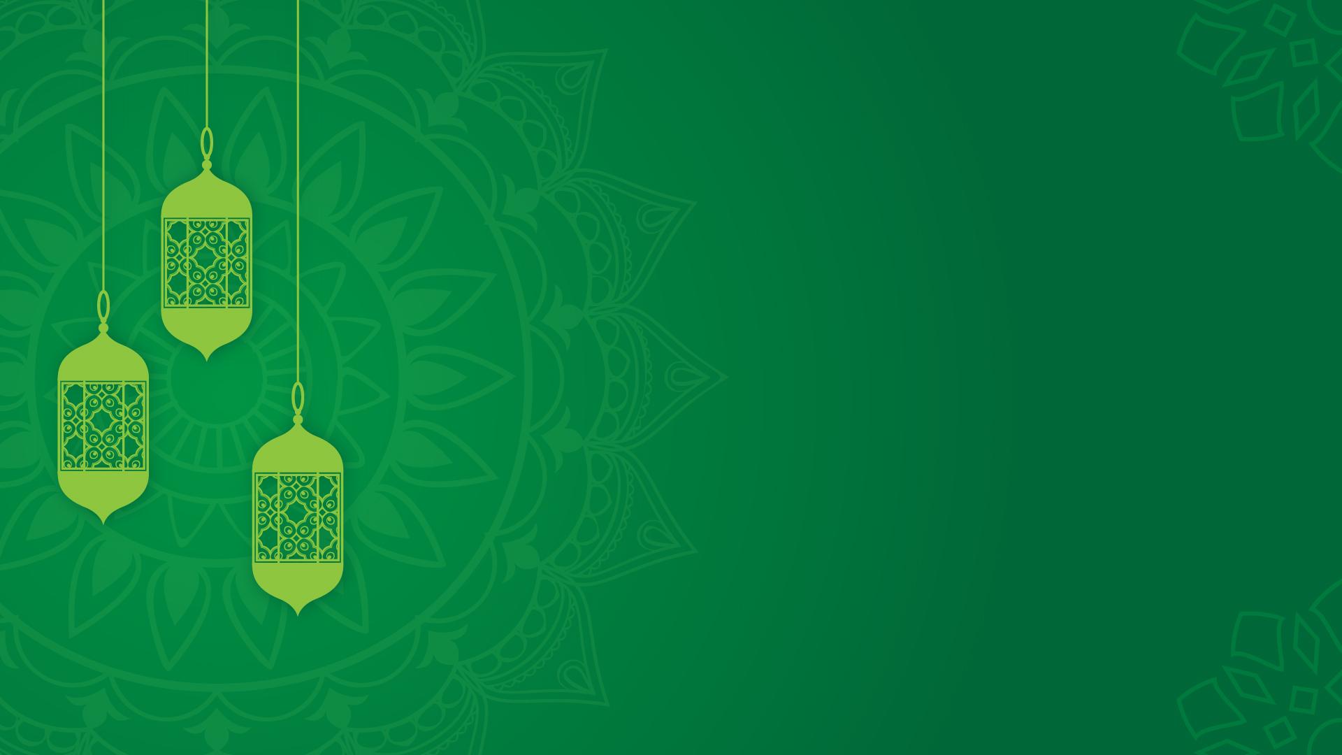 Background Idul Fitri Hijau Yang Indah 1080p - Mas Vian