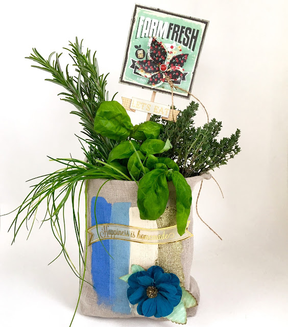 Herbs In A Bag by Angela Tombari using BoBunny Kiss The Cook Collection