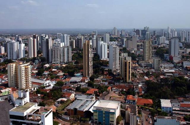 Cuiabá é a quarta maior cidade do Centro Oeste do Brasil em 2016