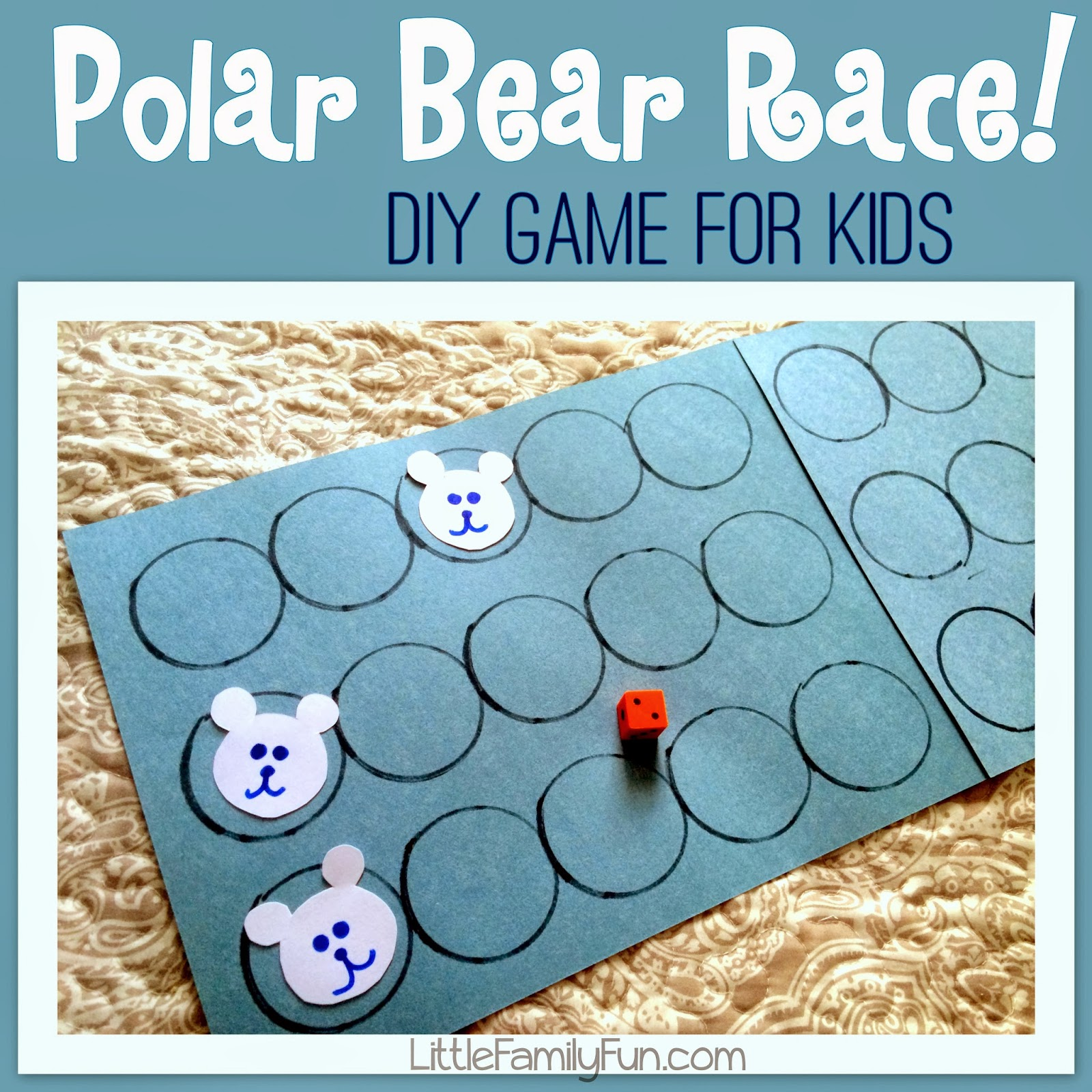 Little Family Fun Polar Bear Race Game