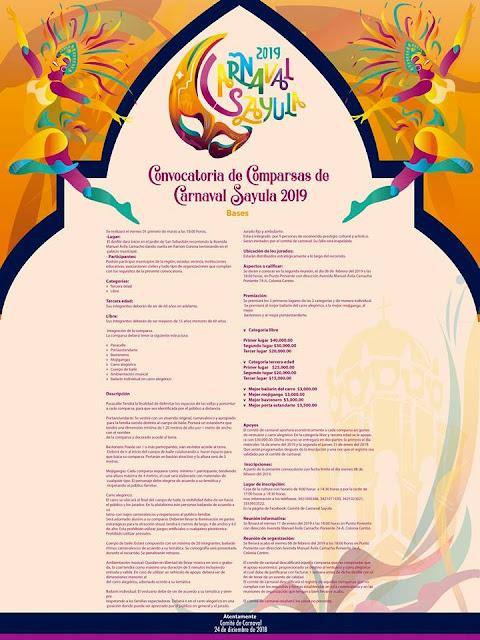 convocatoria carnaval sayula 2019