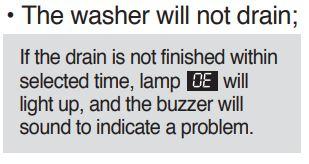 Mesin basuh Sharp berbunyi beep di saat mencuci memiliki arti menjelaskan bahwa ada yang mempunyai permasalahan  Kode Error Mesin Cuci SHARP Lengkap dengan Solusinya