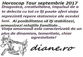 Horoscop septembrie 2017 Taur