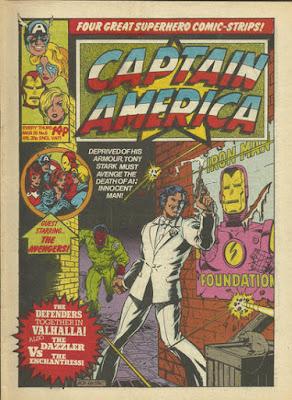 Captain America #5, Marvel UK, Tony Stark goes James Bond