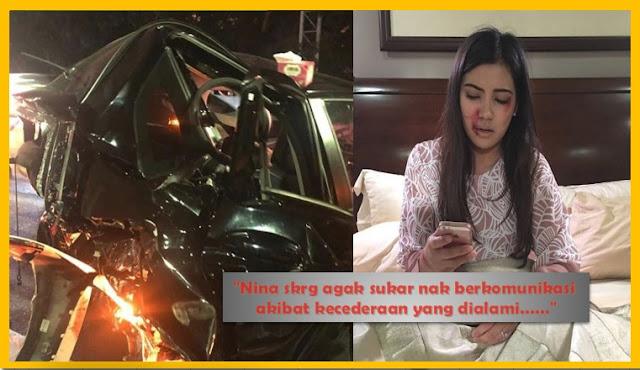 Image result for NINA ISKANDAR MANGSA LANGGAR LARI, KERETA 'TOTAL LOST'.