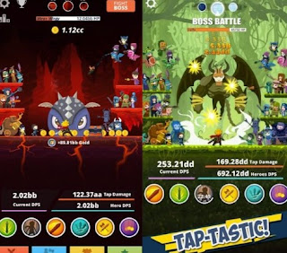 Tap Titans 2 Mod Apk OBB Data v2.1.0 [Unlimited Gold & Gems]