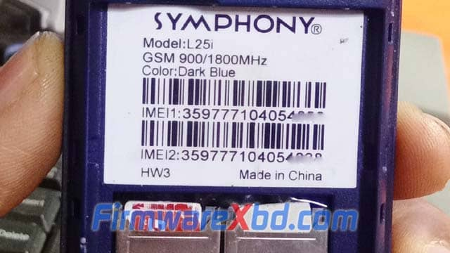 Symphony L25i HW3 Flash File