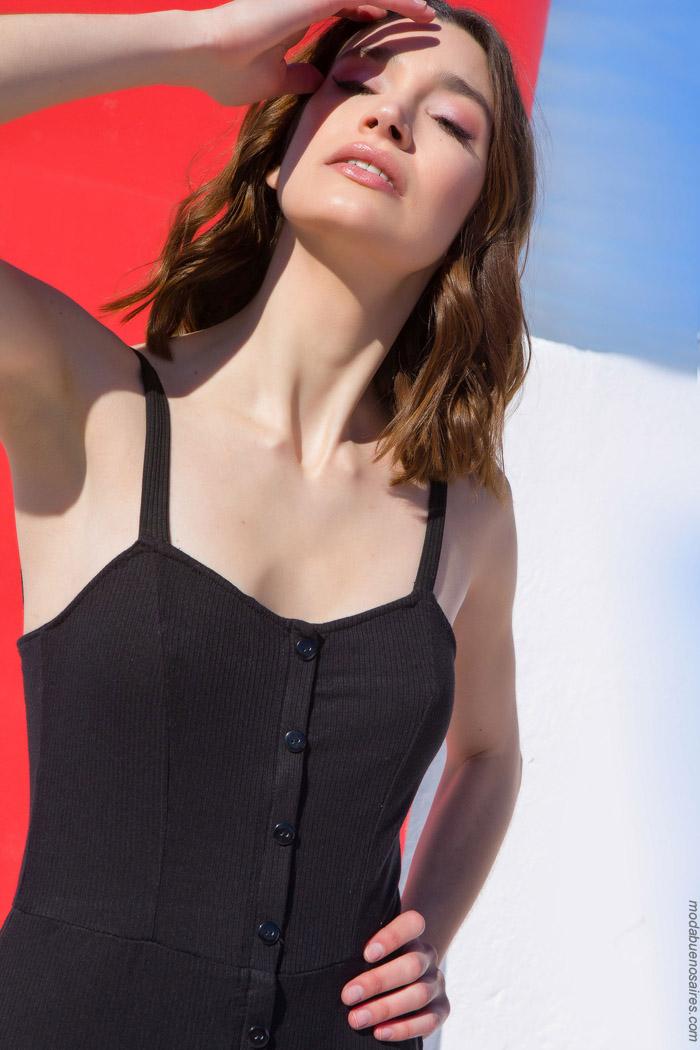 vestidos con botones primavera verano 2020