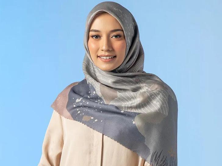 Jual Iskanti Rium Scarf Jilbab Segiempat Wanita - Kaolin Mataram Lombok
