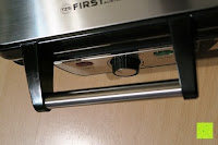 Griff: Waffeleisen Belgisch für 4 belgische Waffeln,XXL Waffelautomat,brüssler Doppel,Thermostat, stufenlose Temperatureinstellung, Backampel, Cool-Touch Griff