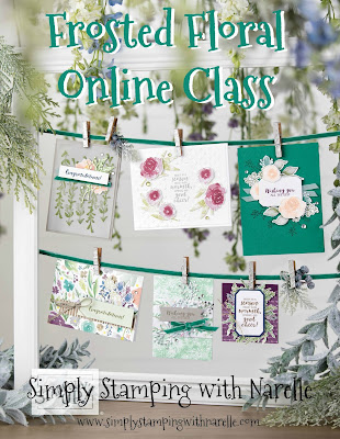 Make eight gorgeous projects with the one stamp set and 4 ink pads in my Frosted Floral Online Class. Register here - http://eepurl.com/dFKicH
