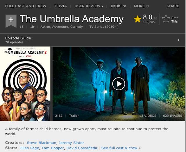 The Umbrella Academy (Season 1 – 2) Dual Audio {Hindi-English} Netflix Web Series Download