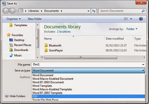 cara menyimpan word document menjadi pdf file