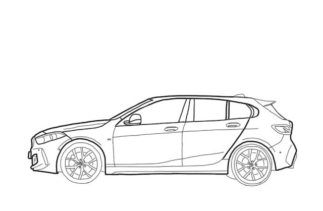 How to Draw BMW 128ti 2021 Step by Step