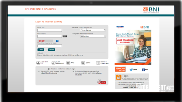 Cara Daftar Internet Banking BNI Beserta Cara Aktivasinya