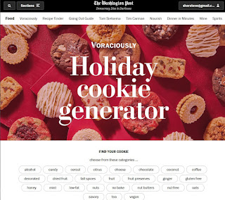 An interactive holiday cookie generator