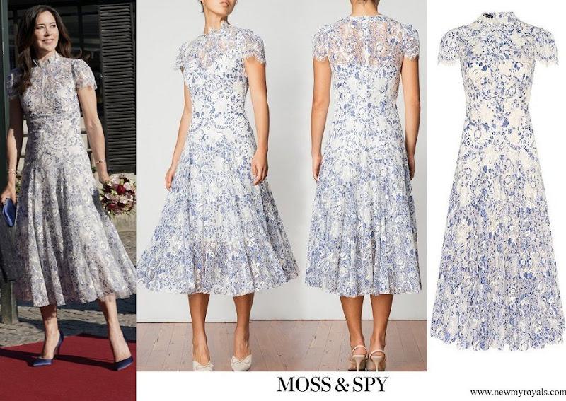 Crown Princess Mary wore Moss & Spy Elodie Dress