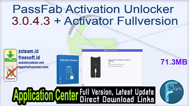 PassFab Activation Unlocker 3.0.4.3 + Activator Fullversion