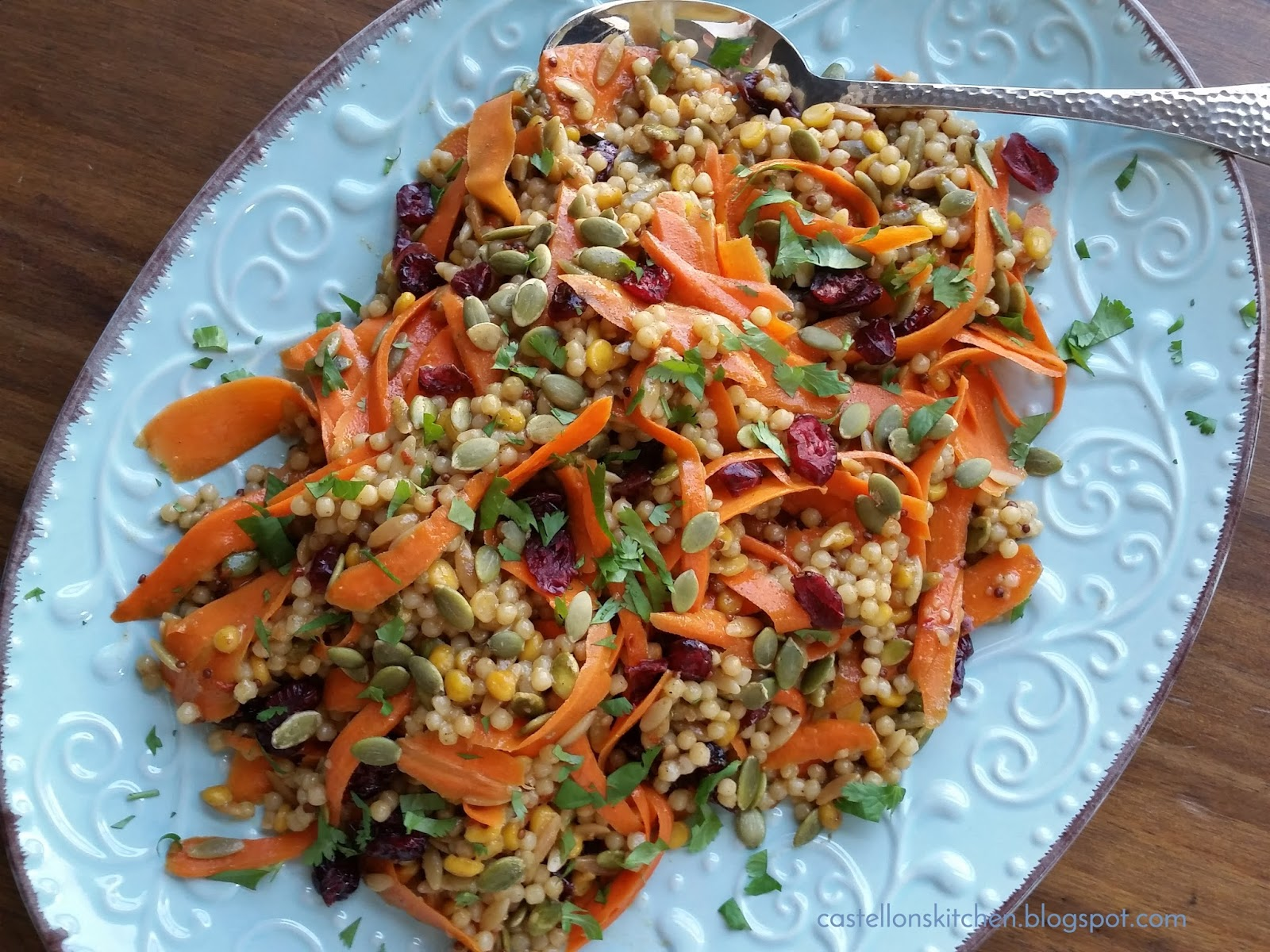 Castellon's Kitchen: Spiced Couscous and Carrot Salad